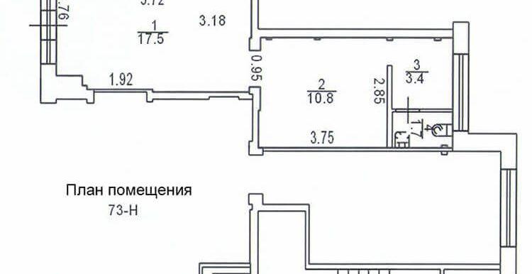 план 33м2