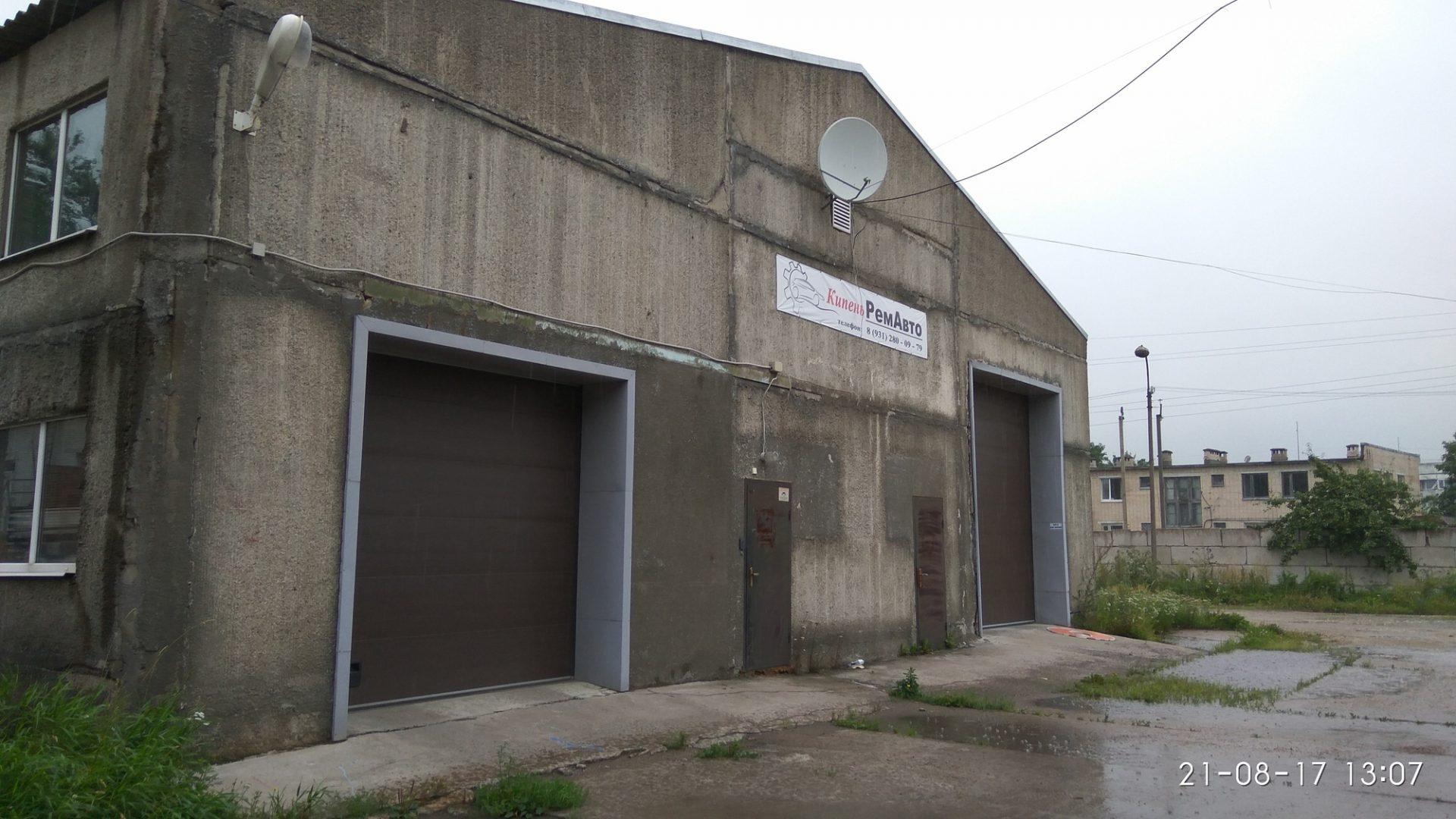 Сдается теплое производственно-складское помещение 550м2 на охраняемой территории в дер. Кипень