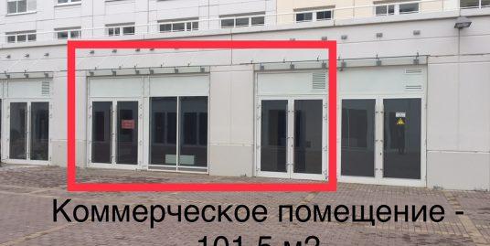 Сдается в аренду коммерческое помещение 101,5м2 в ЖК Новоорловский, на пешеходной улице по адресу: Суздольское ш., д. 24,к.3