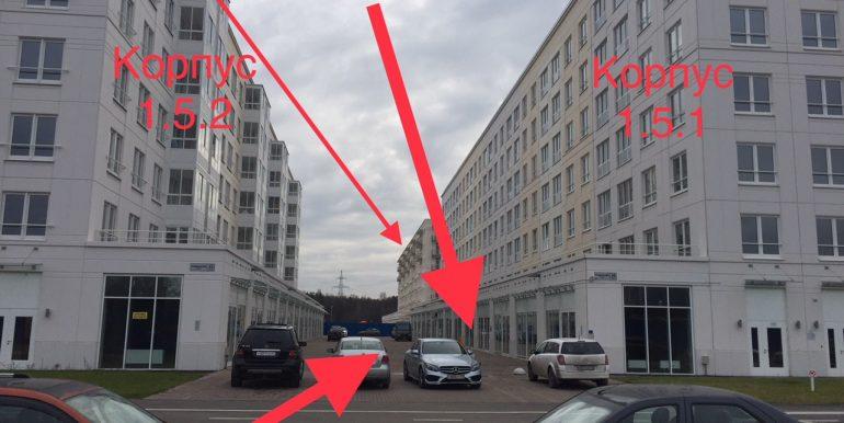 Расположение коммерческого помещения 101,5 м2 (к.1.5.1, 1.5.2. 1.6.1)