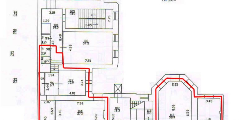план 3 этажа 379,7 кв.м.