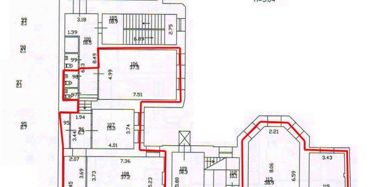 план 3 этажа 419,7 кв.м.