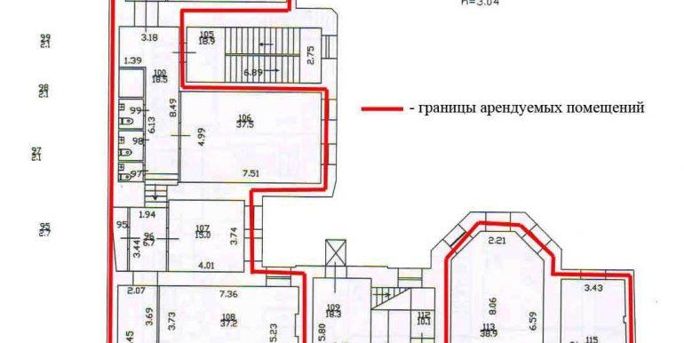 план 3 этажа 515,9 кв.м.