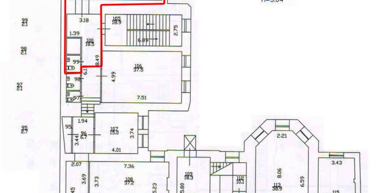 план 3 этажа 96,3 кв.м.