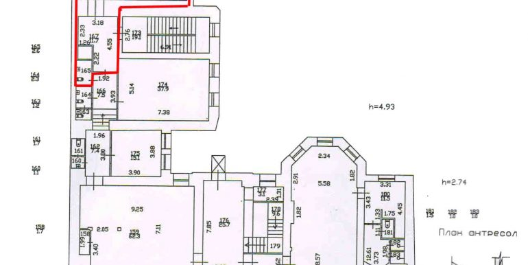 план 5 этажа 68,1 кв.м.