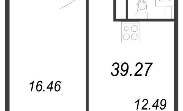 39.27м2, тип 1.3
