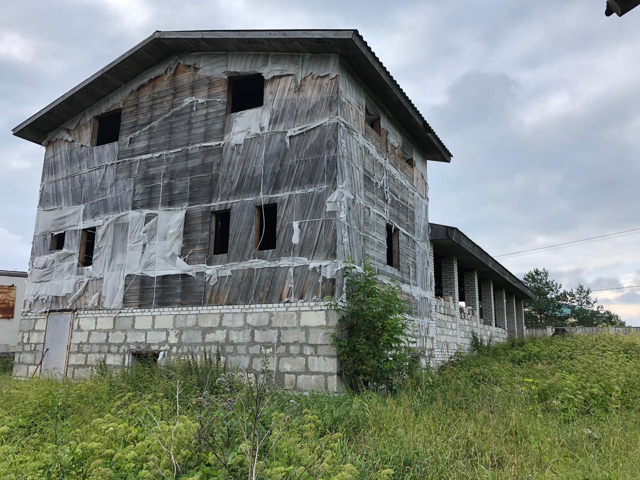Продажа земельного участка 20сот с домом(недострой), д.Жабино, Гатчинский р-н