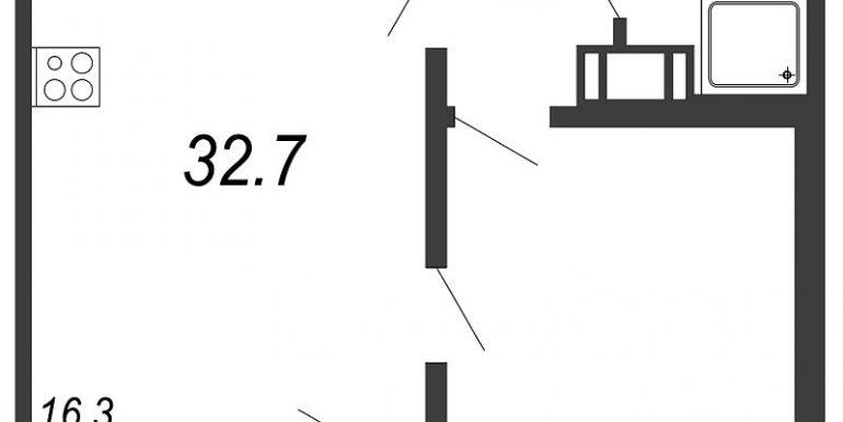 1 к кв 32,7м2