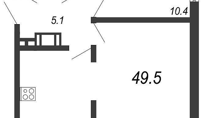 2 к кв , 49,5м2