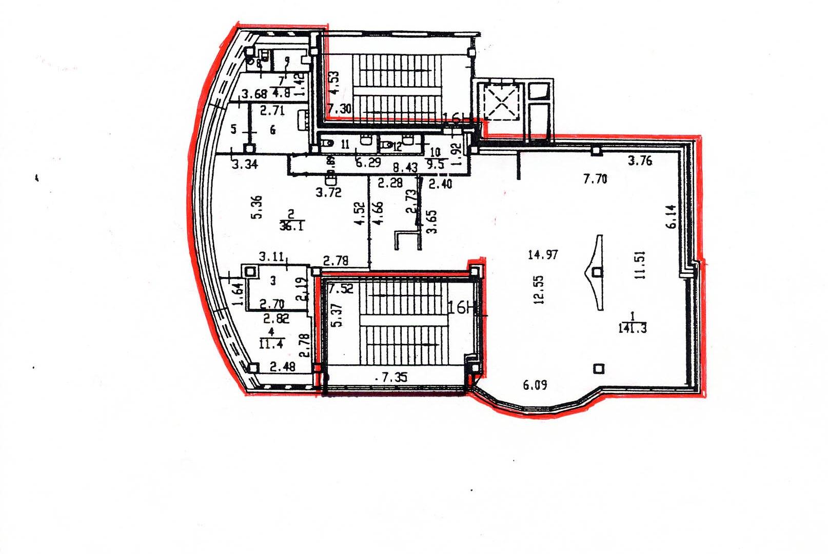 Сдается в аренду светлое ПСН 225,4м2 на 2/3эт в ТК «Балатон» у ст.м. Купчино, 5 мин. пеш.